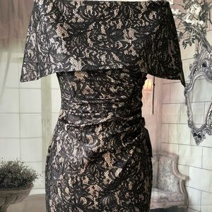 7f2daa302c82 Vince Camuto Dresses - Vince Camuto Lace   Sequin Off-the-shoulder Gown